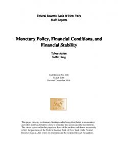 Monetary Policy, Financial Conditions, and Financial Stability