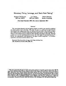 Monetary Policy, Leverage, and Bank Risk-Taking
