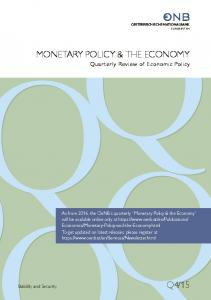 MONETARY POLICY & THE ECONOMY