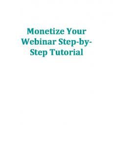 Monetize Your Webinar Step-by- Step Tutorial