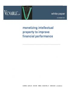 monetizing intellectual property to improve financial performance