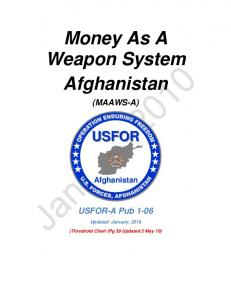 Money As A Weapon System Afghanistan