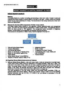 MONEY MARKET & CAPITAL MARKET IN INDIA