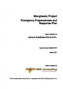Mongbwalu Project Emergency Preparedness and Response Plan