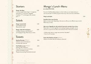 Mongo s Lunch-Menu. Starters. Salads. Sweets