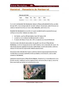 Monistrol - Monasterio de Montserrat