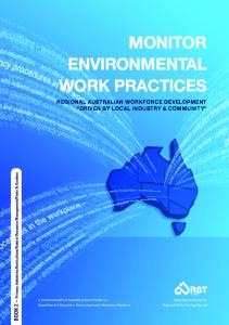 MONITOR ENVIRONMENTAL WORK PRACTICES