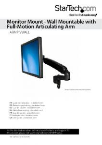 Monitor Mount - Wall Mountable with Full-Motion Articulating Arm