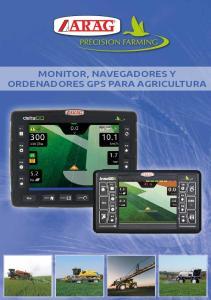 MONITOR, NAVEGADORES Y ORDENADORES GPS PARA AGRICULTURA