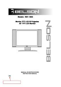 Monitor TFT LCD 20 Pulgadas 20 TFT LCD Monitor
