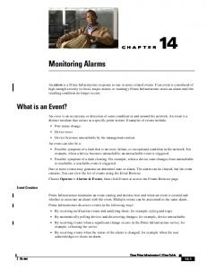 Monitoring Alarms. What is an Event? CHAPTER. Event Creation