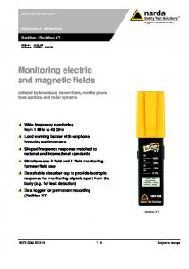 Monitoring electric and magnetic fields