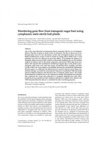 Monitoring gene flow from transgenic sugar beet using