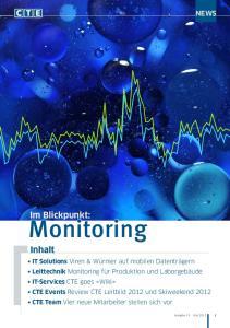 Monitoring. Im Blickpunkt: Inhalt NEWS