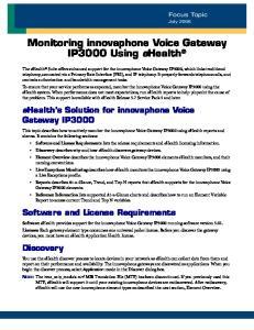 Monitoring innovaphone Voice Gateway IP3000 Using ehealth