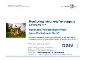 Monitoring Integrierte Versorgung