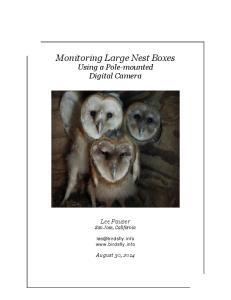 Monitoring Large Nest Boxes Using a Pole-mounted Digital Camera