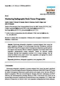 Monitoring Radiographic Brain Tumor Progression