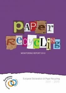 Monitoring Report 2012