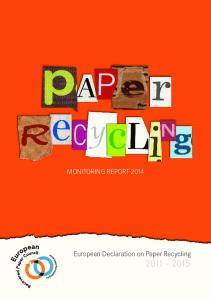 MONITORING REPORT European Declaration on Paper Recycling