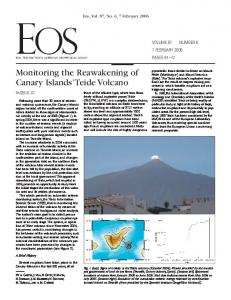 Monitoring the Reawakening of Canary Islands Teide Volcano