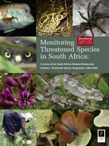 Monitoring Threatened Species in South Africa: