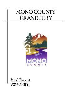 MONO COUNTY GRAND JURY