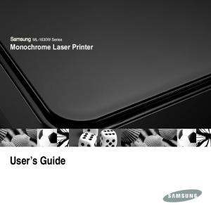 Monochrome Laser Printer. User s Guide