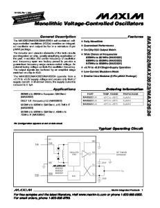 Monolithic Voltage-Controlled Oscillators