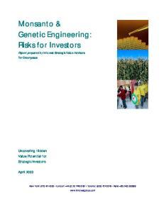 Monsanto & Genetic Engineering: Risks for Investors