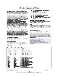 Monster Manual v.3.5 Errata