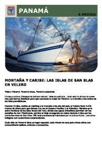 MONTAÑA Y CARIBE: LAS ISLAS DE SAN BLAS EN VELERO