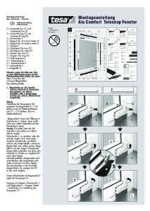 Montageanleitung. Alu Comfort Teleskop Fenster. Montageanleitung. Alu Teleskop - Fenster