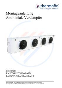 Montageanleitung Ammoniak-Verdampfer