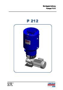 Montageanleitung Pumpe P 212 P Seite 1 von 40 Rev.: