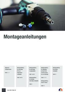 Montageanleitungen. 1  Montageanleitung Verlegehinweise. Allgemeine. Montageanleitung. Montageanleitung
