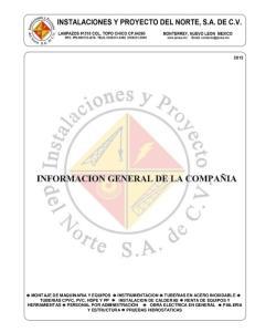 MONTAJE DE MAQUINARIA Y EQUIPOS INSTRUMENTACION TUBERIAS EN ACERO INOXIDABLE TUBERIAS CPVC, PVC, HDPE Y PP INSTALACION DE CALDERAS RENTA DE EQUIPOS Y