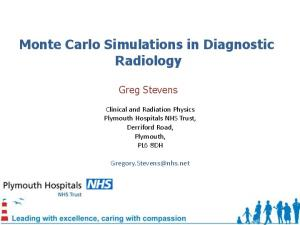 Monte Carlo Simulations in Diagnostic Radiology