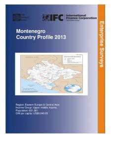 Montenegro Country Profile 2013
