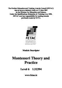 Montessori Theory and Practice