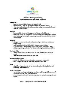 Month 1: Sensory Processing Preschooler and School-Aged Activities