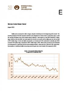MONTHLY COFFEE MARKET REPORT