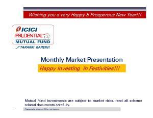 Monthly Market Presentation