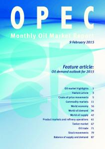 Monthly Oil Market Report