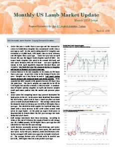 Monthly US Lamb Market Update