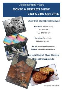 MONTO & DISTRICT SHOW 23rd & 24th April 2016