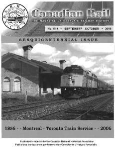 Montreal - Toronto Train Service