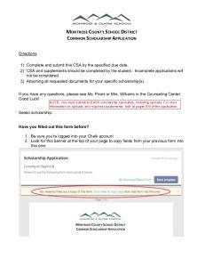 MONTROSE COUNTY SCHOOL DISTRICT COMMON SCHOLARSHIP APPLICATION
