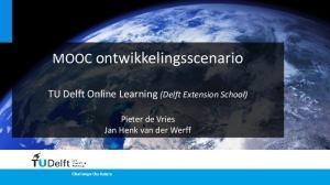 MOOC ontwikkelingsscenario