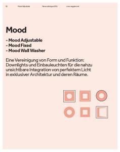 Mood - Mood Adjustable - Mood Fixed - Mood Wall Washer
